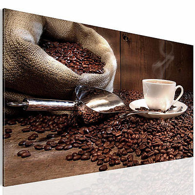 bild 5027137a bilder leinwand kunstdruck kaffee coffee 70x40 cm braun 1tlg eur 2 98. Black Bedroom Furniture Sets. Home Design Ideas