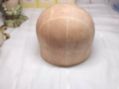 Vintage Midwest H.B. & D. Co. Wood Block Hat Mold Millinery Form 796 Size 23 1/2