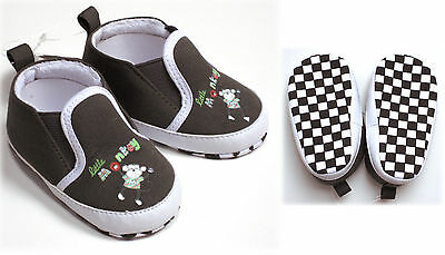 Baby Boys Slip On Deck Baby Shoes  Monkey 0-3  Months