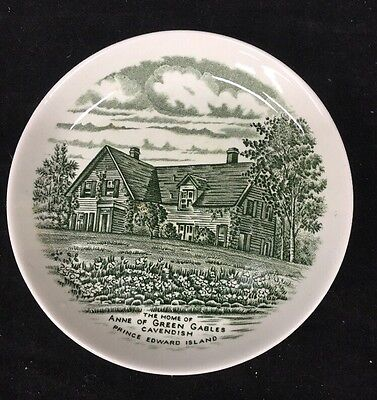 """Burleigh England Series of Atlantic Canada Home of Anne of Green Gables 5"""" plate"""