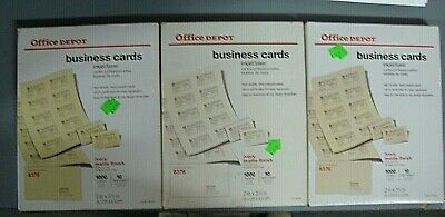 New office depot 930 339 business card sleeves 10 sheets 20 cards office depot brand 388 309 matte business cards 2 x 3 12 reheart Image collections
