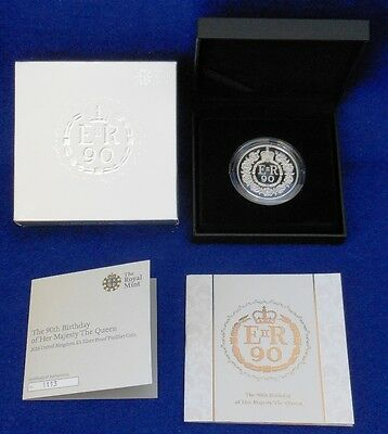 2016 Uk £5 90Th Birthday Piedfort Proof Coin...silver (.925)...limited Edition