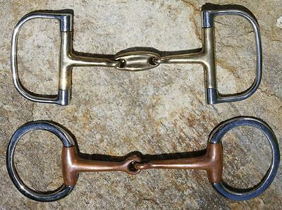 Lot of Two Quailty English Bits. Eggbutt & Dee Ring.   Quality Horse Tack