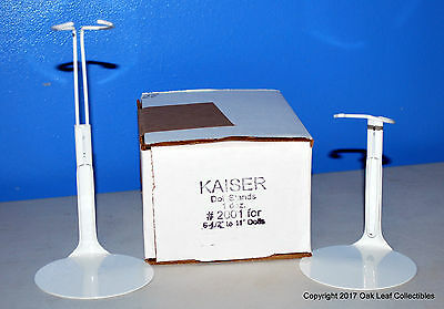 """12 Kaiser 2001 Doll Stands 6.5-11"""" New White 8"""" Madame Alexander Ginny More!"""