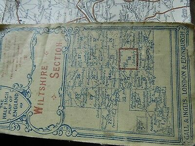 WILTSHIRE-ANTIQUE MAP GALL& INGLIS c1875-1890:ROADS,CYCLES CARRIAGES, RAILWAYS