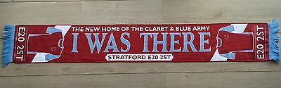 West Ham United I Was There Stratford New Home Of The Claret And Blue Army Scarf