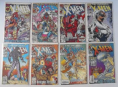 Marvel X-Men Archives Comic books- Lot of 8 Issues In Plastic Sleeves - New Team