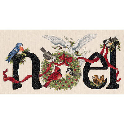 "Noel Counted Cross Stitch Kit-14-1/4""X7"" 14 Count"