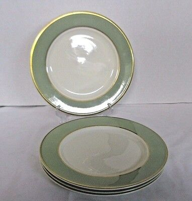 Taylor Smith & Taylor Classic Heritage Green Dinner Plates Made in USA Set of 4