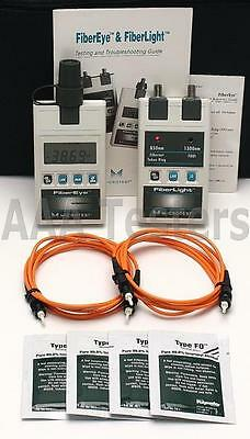 Fluke Microtest FiberLight FiberEye MM Fiber Optic Loss Test Kit