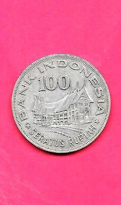 Indonesia Km42 1978 Vf-Very Fine-Nice Old Vintage 100 Rupiah Large Coin