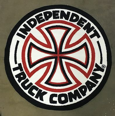 "INDEPENDENT TRUCKS CROSS LOGO Skateboard AREA RUG 40""x40"" Skate Deckor"