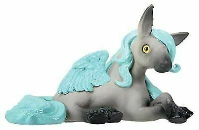 Delphi The Grey Colored Pegasus with Teal Hair and Wings Figurine