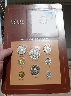 Coin Sets of All Nations, Seychelles, 8 Coin Set - 1977-82, w/ Info Card