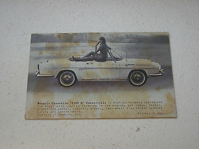 Renault Caravelle 1100 S Convertible  Promo Card