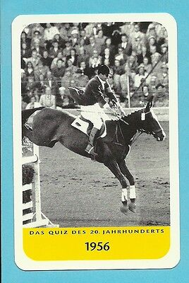Hans Gunter Winkler Equestrian Horse Jumping Cool Collector Card Europe Look!