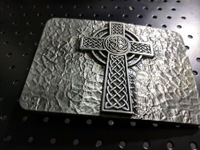 ✖ Medievel Style celtic Cross Belt Buckle ✖ Metal Antique Silver color us seller