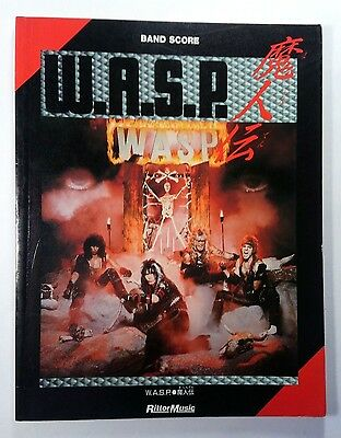 W.a.s.p. Wasp  Band Score Japan Guitar Tab