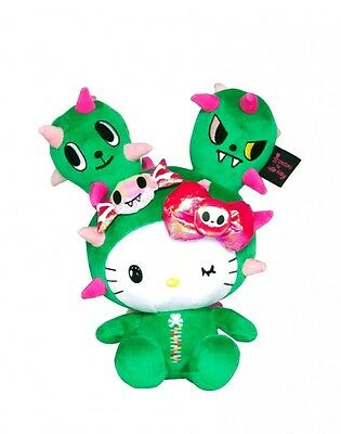 "Tokidoki Hello Kitty Cactus Sandy Friend 8"" Plush Doll + Sticker"