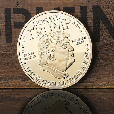 Gold-Plated United States 45th Term President Trump Commemorative Coins