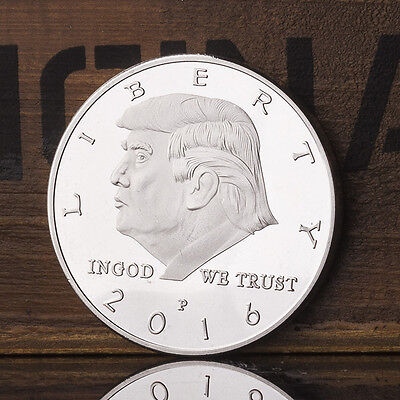 Silver Plated United States The 45th President Trump Commemorative Coins