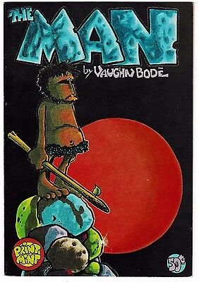 THE MAN #1 (VF) Vaughn Bode! 2nd Printing! 1972 Underground Issue! by Print Mint