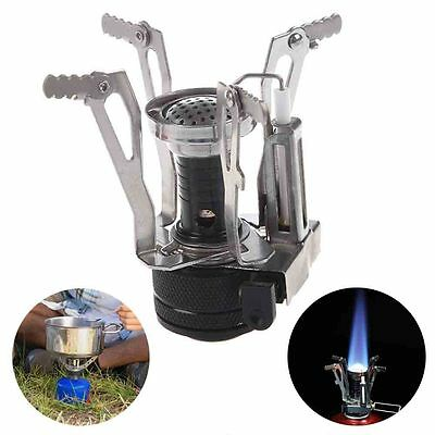 Portable Ultralight Canister Stove Travel Hiking Camp Burner With Piezo Ignition