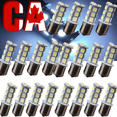 20 X 1156 18 LED bulbs Turn Signal Light Backup Reverse BA15S 1141 7000K White