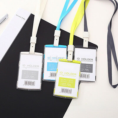 Security Badge ID Holder Pass Lanyard Card Wallet Tag Neck Strap Hot Sale CA