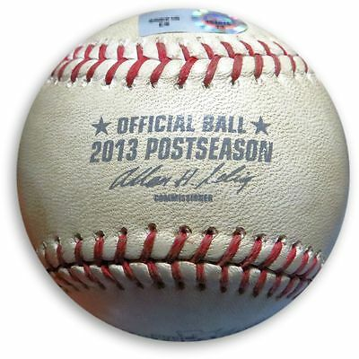 Los Angeles Dodgers vs Braves Game Used Play-off Baseball 10/15/2013 MLB Holo