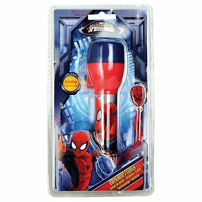 Childrens Spiderman LED Battery Powered Light Weight Torch With Carry Strap