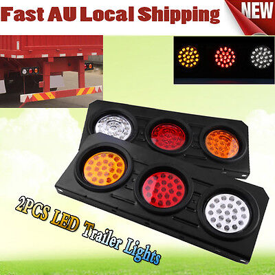 AU 2x 12V 63LED Tail Lights Ute Trailer Caravan Car Stop Reverse Indicator Led Z