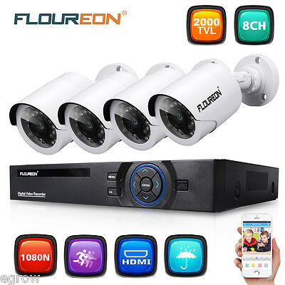 CCTV WIFI 720P IP Cámara 4CH 1080P DVR Kit NVR Sistema Video Vigilancia Exterior
