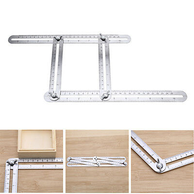 Multi-Angle Foldable Scale Ruler Four-sided Tile Steel Template Measuring Tool