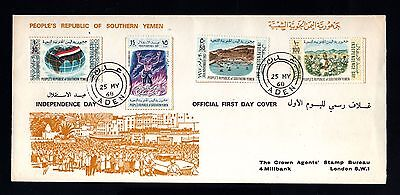 15972-REPUBLIC of SOUTHERN YEMEN-FIRST DAY COVER ADEN to LONDON (england).1968.
