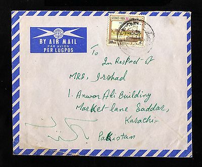 15807-SULTANATE of OMAN-AIRMAIL COVER MA´ASAAR to KARACHI (pakistan)1959.