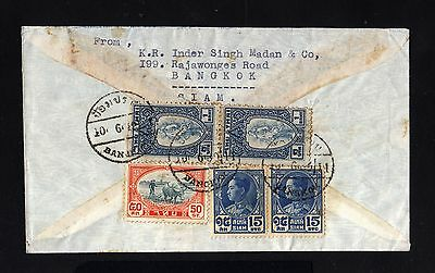 15883-SIAM-THAILAND-AIRMAIL COVER BANGKOK to ZURICH (switzerland)1930.Thailande