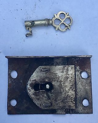 Antique Grandfather Longcase Clock Lock And Key  No2
