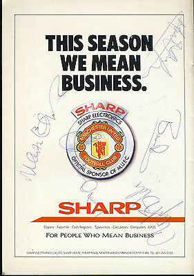 SIGNED Manchester United v Charlton Athletic 3rd Dec 1988 Football Programme ...
