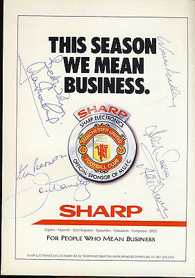SIGNED Manchester United v Arsenal 2nd April 1989 Football Programme f2052