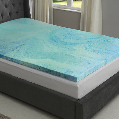 Starry Night Cool Gel Memory Foam Mattress Topper 2.5 5cm Deep Single Dbl King