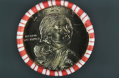 2009 D Native American Sacagawea Dollar 25 Coin Mint Roll Harvest Reverse
