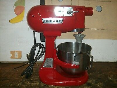 Hobart Commercial 5 Quart Model N-50 Mixer. New Grease. Runs Very Smooth