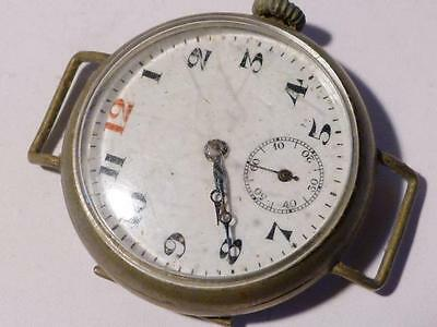 "WW1 Swiss 10 Jewels Lanco Soldier  Army ""Trench"" Watch Working"