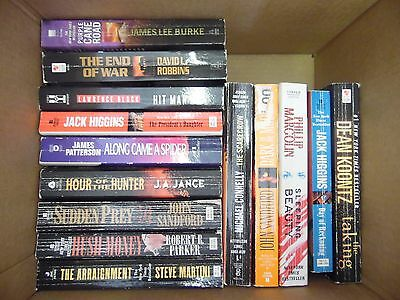 Large Lot of 26 Mystery, Thriller, Suspense Paperback Books BestSellers