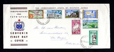16020-WESTERN SAMOA-FIRST DAY COVER APIA to THE HAGUE (holland) 1962.British.