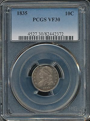 1835 Capped Bust Dime PCGS VF30