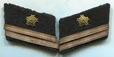 ORIGINAL WWII JAPANESE Police OFFICER COLLAR TABS Pair