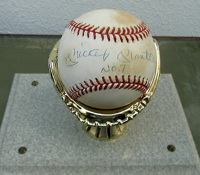 Mickey Mantle Signed Baseball No7  With COA From Upper Deck Rare