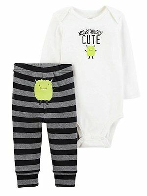 6M  Just One You Carter's Halloween 2 piece Outfit Monstrously Cute